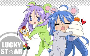 Rating: Safe Score: 39 Tags: 2girls hiiragi_kagami izumi_konata lucky_star vector User: Oyashiro-sama