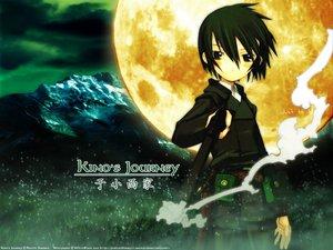 Rating: Safe Score: 25 Tags: brown_hair grass green_eyes kino kino_no_tabi landscape logo moon scenic short_hair watermark User: Oyashiro-sama
