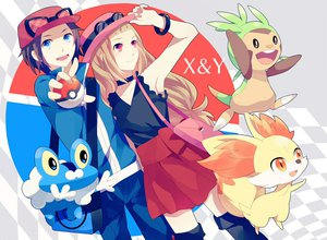 Rating: Safe Score: 52 Tags: achiki blue_eyes brown_hair chespin fennekin froakie hat pokemon red_eyes User: FormX