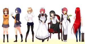 Rating: Safe Score: 44 Tags: aozaki_aoko apron aqua_eyes arcueid_brunestud black_hair blonde_hair blue_eyes blue_hair boots bow brown_eyes brown_hair ciel flowers glasses gradient group headband headdress hisui i.f.s.f kneehighs kohaku long_hair maid pantyhose red_eyes red_hair seifuku shingetsutan_tsukihime short_hair skirt sunflower tohno_akiha twintails white wink yellow_eyes yumizuka_satsuki User: RyuZU
