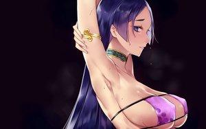 Rating: Safe Score: 69 Tags: bikini bikini_top blue_eyes choker fate/grand_order fate_(series) ichinosenen long_hair minamoto_no_yorimitsu_(fate) purple_hair sideboob swimsuit wet User: BattlequeenYume