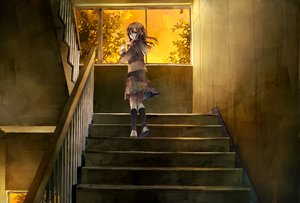 Rating: Safe Score: 78 Tags: brown_eyes brown_hair kneehighs long_hair original school_uniform skirt stairs tsukioka_tsukiho User: Elnarutoxxx2020