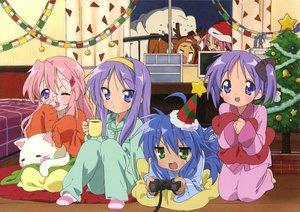 Rating: Safe Score: 46 Tags: christmas hiiragi_kagami hiiragi_tsukasa izumi_konata kogami_akira lucky_star pajamas scan shiraishi_minoru takara_miyuki User: Xtea