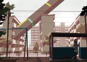 Rating: Safe Score: 76 Tags: brown_hair building city headphones original short_hair tomioka_jirou tree User: PAIIS