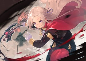 Rating: Safe Score: 53 Tags: blonde_hair blood cape edelgard_von_hresvelg fire_emblem gloves itsutsuse purple_eyes uniform weapon User: BattlequeenYume