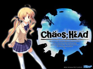 Rating: Safe Score: 12 Tags: blonde_hair chaos;head long_hair orihara_kozue seifuku skirt thighhighs twintails User: Tensa