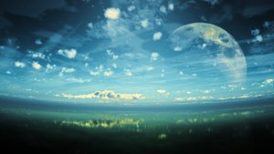 Rating: Safe Score: 181 Tags: 3d clouds grass moon original scenic sky y-k User: STORM