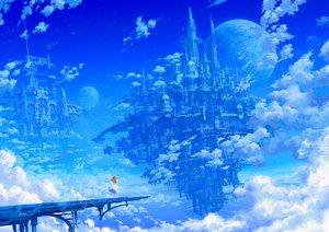 Rating: Safe Score: 97 Tags: blue building city clouds dress kaitan orange_hair original planet scenic signed sky User: FormX