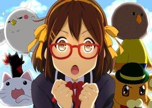 Rating: Safe Score: 88 Tags: bonta-kun brown_hair chuunibyou_demo_koi_ga_shitai! close cosplay crossover dera_mochimazzui free! full_metal_panic glasses hirasawa_yui hyouka k-on! kyoukai_no_kanata lucky_star nichijou oku_no_shi sagara_sousuke sakamoto_(nichijou) seifuku suzumiya_haruhi_no_yuutsu tamako_market User: Wiresetc