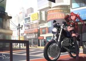 Rating: Safe Score: 15 Tags: boots city gloves goggles motorcycle segamark shorts signed thighhighs twintails User: luckyluna