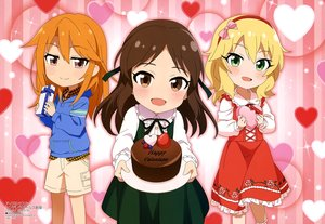 Rating: Safe Score: 16 Tags: blonde_hair blush bow brown_eyes brown_hair cake chibi food fruit green_eyes headband idolmaster idolmaster_cinderella_girls loli long_hair orange_hair sakurai_momoka scan shorts strawberry tachibana_arisu tagme_(artist) valentine yuuki_haru User: RyuZU