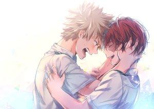 Rating: Safe Score: 16 Tags: all_male bakugou_katsuki blonde_hair boku_no_hero_academia hug male red_eyes red_hair short_hair shounen_ai sketch tagme_(artist) todoroki_shouto User: mattiasc02
