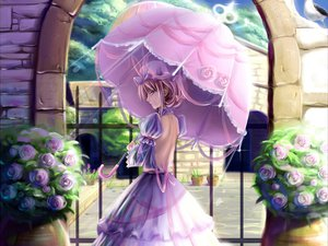 Rating: Safe Score: 57 Tags: dress saber_01 touhou umbrella yakumo_yukari User: gnarf1975
