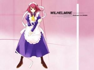 Rating: Safe Score: 9 Tags: maid pink_hair red_eyes ribbons shakugan_no_shana wilhelmina_carmel User: Oyashiro-sama
