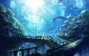 Rating: Safe Score: 73 Tags: animal bird building chitose_rin city fish original ruins scenic tree underwater water User: RyuZU