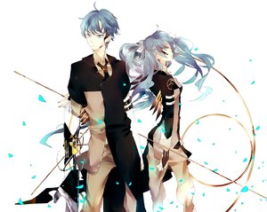 Rating: Safe Score: 30 Tags: hatsune_miku hatsune_mikuo twintails vocaloid User: HawthorneKitty