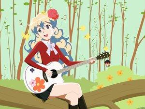 Rating: Safe Score: 39 Tags: guitar instrument nia_teppelin tengen_toppa_gurren_lagann User: 秀悟