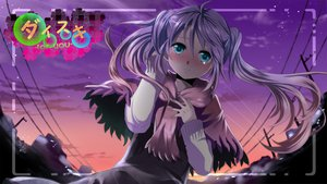 Rating: Safe Score: 69 Tags: aqua_eyes blush hatsune_miku jpeg_artifacts long_hair mariwai_(marireroy) purple_hair scarf vocaloid User: opai
