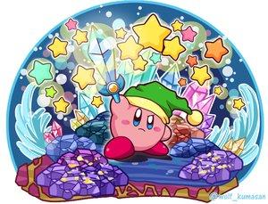Rating: Safe Score: 25 Tags: hat kirby kirby_(character) ninjya_palette stars sword waifu2x watermark weapon User: otaku_emmy