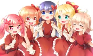 Rating: Safe Score: 28 Tags: aqua_eyes blonde_hair blue_hair bow cat_smile dress fang gloves green_eyes group himesaka_noa hoshino_hinata konomori_kanon loli long_hair netamaru orange_hair pink_eyes pink_hair ponytail red_eyes shirosaki_hana short_hair tanemura_koyori twintails watashi_ni_tenshi_ga_maiorita! User: otaku_emmy
