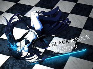 Rating: Safe Score: 66 Tags: black_rock_shooter kuroi_mato sword weapon User: HawthorneKitty