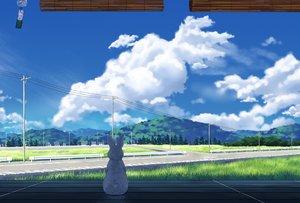 Rating: Safe Score: 47 Tags: animal building clouds grass landscape original rabbit scenic sky tree yun_(maxforse) User: mattiasc02