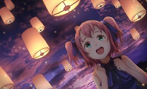 Rating: Safe Score: 54 Tags: aqua_eyes clouds kurosawa_ruby long_hair love_live!_school_idol_project love_live!_sunshine!! night otsumami red_hair ribbons sky sunset twintails User: BattlequeenYume