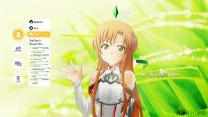 Rating: Safe Score: 134 Tags: brown_hair long_hair sword_art_online watermark wes2299 yuuki_asuna User: C4R10Z123GT
