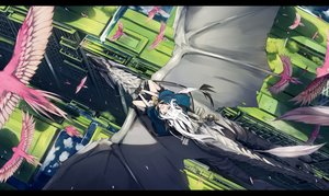 Rating: Safe Score: 67 Tags: animal animal_ears bird building city dragon gloves long_hair nagishiro_mito original water white_hair User: BattlequeenYume