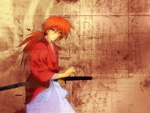 Rating: Safe Score: 4 Tags: all_male himura_kenshin japanese_clothes male rurouni_kenshin scar sword weapon User: Oyashiro-sama