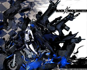 Rating: Safe Score: 33 Tags: black_rock_shooter chain gun kuroi_mato motorcycle starshadowmagician weapon User: rodri1711