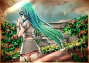 Rating: Safe Score: 78 Tags: aqua_eyes aqua_hair hatsune_miku jpeg_artifacts siu_sheung skirt thighhighs vocaloid User: The_Knight_Girl