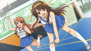 Rating: Safe Score: 74 Tags: 2girls asahina_mikuru cheerleader game_cg suzumiya_haruhi suzumiya_haruhi_no_tsuisou suzumiya_haruhi_no_yuutsu User: SciFi