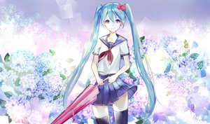 Rating: Safe Score: 6 Tags: hatsune_miku long_hair twintails vocaloid User: luckyluna