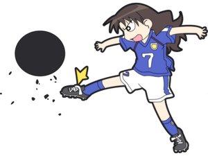 Rating: Safe Score: 6 Tags: azumanga_daioh ball soccer sport tanizaki_yukari white User: Oyashiro-sama