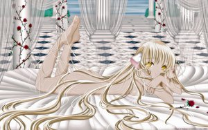 Rating: Questionable Score: 60 Tags: blonde_hair chii chobits flowers long_hair nude rose yellow_eyes User: gnarf1975