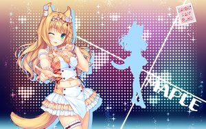 Rating: Safe Score: 47 Tags: animal_ears catgirl garter headband maple_(sayori) navel nekopara sayori tail tie watermark wink wristwear User: RyuZU