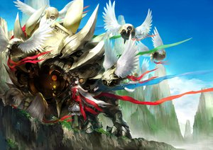 Rating: Safe Score: 114 Tags: armor ribbons tagme tagme_(character) wings youshun_(naturaljuice) zoids User: opai