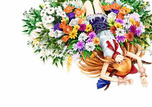 Rating: Safe Score: 48 Tags: chain flowers horns ibuki_suika long_hair nishiuri orange_hair red_eyes touhou User: SciFi