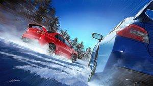 Rating: Safe Score: 37 Tags: car m.m_(chosuke320) original scenic signed snow tree User: mattiasc02