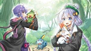 Rating: Safe Score: 25 Tags: ajishio grookey kizuna_akari pokemon scorbunny sobble vocaloid voiceroid yuzuki_yukari User: kyxor