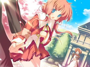Rating: Safe Score: 9 Tags: amagahara_inaho cherry_blossoms happy_magarette sakura_mao User: 秀悟