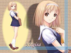 Rating: Safe Score: 19 Tags: after blonde_hair brown_eyes headband school_uniform short_hair socks taka_tony takawashi_nagisa User: Oyashiro-sama