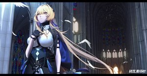 Rating: Safe Score: 59 Tags: bianca_(punishing:_gray_raven) blonde_hair breast_hold breasts cross gloves logo long_hair punishing:_gray_raven tie xtears_kitsune yellow_eyes User: Fepple