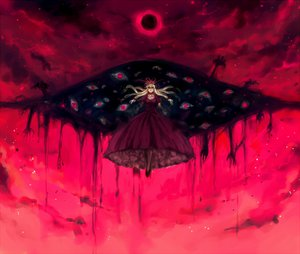 Rating: Safe Score: 89 Tags: dress minase_(mmakina) moon red_eyes touhou yakumo_yukari User: Dust