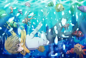 Rating: Safe Score: 21 Tags: animal durarara!! fish kida_masaomi water User: HawthorneKitty