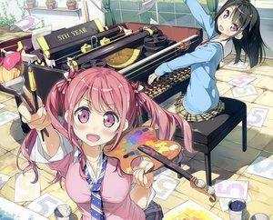Rating: Safe Score: 76 Tags: 2girls 5_nenme_no_houkago cropped kantoku kurumi_(kantoku) original paper photoshop shizuku_(kantoku) User: luckyluna