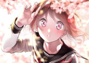 Rating: Safe Score: 23 Tags: blush brown_hair cherry_blossoms close flowers original rinku_(rin9) seifuku User: FormX