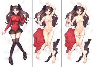 Rating: Explicit Score: 82 Tags: barefoot blush bow bra breasts brown_hair censored fate_(series) fate/stay_night green_eyes long_hair navel nipples panties panty_pull pussy skirt thighhighs tohsaka_rin twintails underwear undressing yuyama_chika User: BattlequeenYume