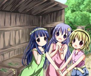 Rating: Safe Score: 35 Tags: furude_rika hanyuu higurashi_no_naku_koro_ni horns houjou_satoko User: HawthorneKitty